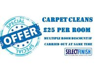Professional Carpet & Upholstery Cleaning ** FROM £25 PER ROOM ** Carpet - Rug - Sofa - Curtains