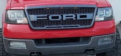 2004-2008 Ford F150 Raptor SVT Style Grille FORD Letters Included Gray