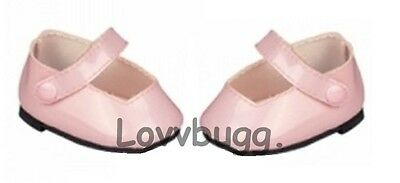 Lovvbugg Pink Patent Mary Janes for Bitty Baby Doll Shoes Clothes