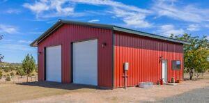 Steel Building for garages, storage buildings, work shops