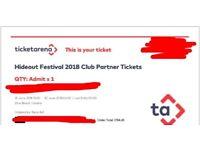 1 Hideout festival ticket 2018