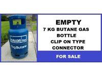 CARAVAN GAS BOTTLE 7KG BUTANE CARAVAN GAS BOTTLE EMPTY