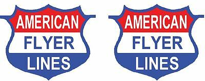 American Flyer Shield Decals, Silver Bullet 356, 354 and others