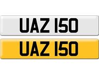 *UAZ 150* Dateless Personalised Cherished Number Plate Audi BMW M3 Ford VW Caddy Mercedes Vauxhall