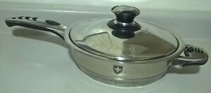 ROYALTY LINE Stainless Steel Skillet 18/10 with Cover