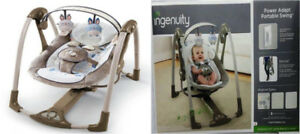 Ingenuity Bingham Bunny Power Adapt Portable Swing