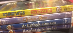 Set Of 4 Movies Animated And Hans Christian Anderson DVDs