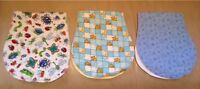 3 burp cloths brand new