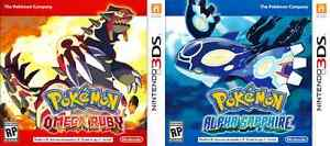 Wanted!! Pokemon Alpha Sapphire & Omega Ruby 3DS