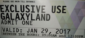 2 Exclusive Use Galaxyland Tickets, 15/each