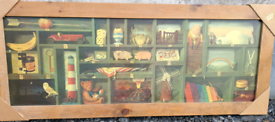 Large contemporary picture in solid pine frame