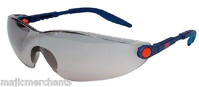 3M 2741 Comfort Line Grey Sunglasses Safety Glasses Smoke Lens Anti Scratch Fog