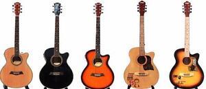 Guitares acoustiques, guitares électriques, guitares basses, Ukuleles pour les débutants, les enfants, les joueurs inter