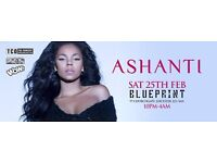 2x VIP tickets to Ashanti Live @ Blueprint Leicester - Tickets will be emailed after payment