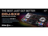 Pioneer ddj sx2, 4 channel mixer/controller/midi/sampler great condition!!!