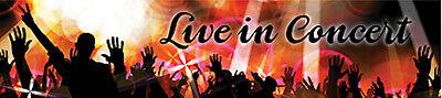 "Reminisce LIVE IN CONCERT 2"" x 10"" Title Sticker scrapbooking MUSIC SINGING"