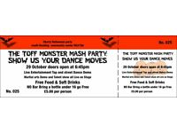 monster mash party , kids talent show fancy dress disco