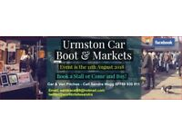 Urmston Car boot & Markets Pitches Now Available