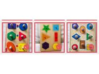 Wooden Jigsaw Peg Puzzle Toys for Early Learning
