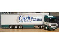 "Corgi CC12216, Scania Fridge Trailer - ""Corby Chilled Distribution ltd"", 1:50"