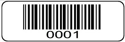 0001 > 1000 Serial Barcode Sequential Sticker Consecutive Number Label Roll #1