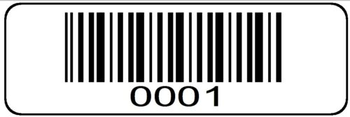 0001 > 1000 Serial Bar-code Sequential Sticker Consecutive Number Label Set #1