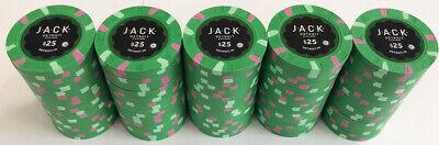 100 $25 JACK CASINO PAULSON POKER CHIPS Paulson Poker Chips