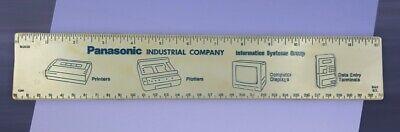 Vintage Old PANASONIC Industrial Company Advertising RULER Printer Computer Data