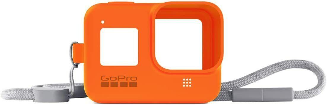 GoPro AJSST-004 Guaina di Protezione Arancione con Cordino Compatibile con Hero8