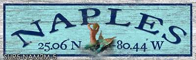 - Naples Florida Home Decor Art Print Sign On Real Wood SUR5-NAM2M-5