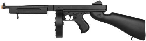 Well Thompson M1A1 AEG Electric Airsoft Gun Tommy Gun Rifle Black Color