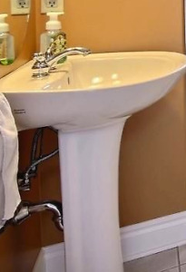 American Standard Pedestal Sink and Taps