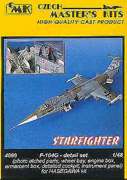 CMK 1/48 F-104G Starfighter Detail Set for Hasegawa kit # 4099 for sale  Shipping to Ireland