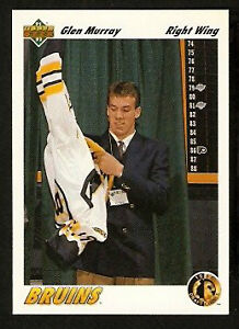 GLEN MURRAY .... ROOKIE CARD ... 1991-92 Upper Deck hockey cards