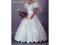 Hilary Morgan original wedding dress - ivory silk, size 14