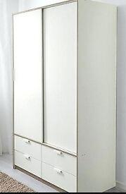 Big Wardrobe w sliding doors/4 drawers,