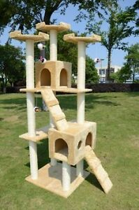 "Multi Level Cat Tree House / 71"" pet ferret condo w/ Hammock"