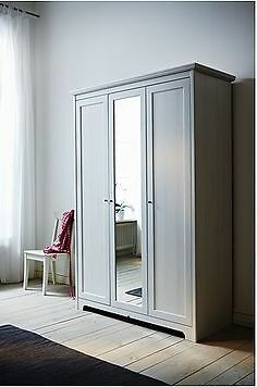 brand new ikea brusali wardrobe with 3 doors white in. Black Bedroom Furniture Sets. Home Design Ideas