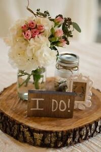 Rustic Wedding Decor--wood slices, cake stands.... Kitchener / Waterloo Kitchener Area image 4