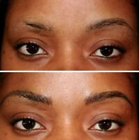 3D Maquillage permanent sourcils($120), 3D Permanent Eyebrows