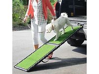 Orvis Natural Step Folding Dog Ramp. Safe and comfortable to help your dog in and out of your car.