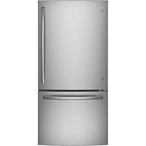 G.E. 18 cu ft Stainless fridge