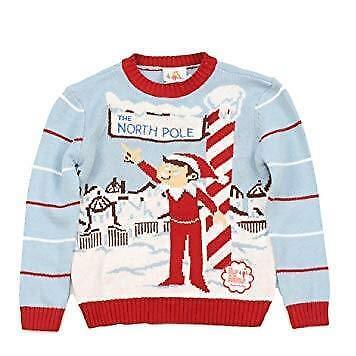 Little Boys Elf On The Shelf North Pole Holiday Ugly? Christmas Sweater Sz 4