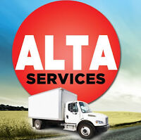 ALTA SERVICES 514-690-4050 PRO MOVING $60/H FAST HONEST RELIABLE