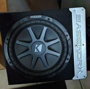 Compact car audio subwoofer