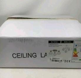 Brand New Boxed AUROLITE BOLLA 3xG9 LED Semi Flush Ceiling Light