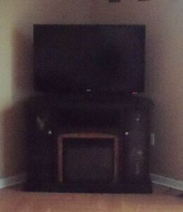 Electric fireplace tv stand $250