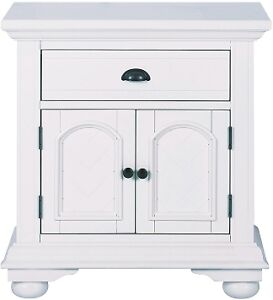 like new Beautiful White Bedside Table