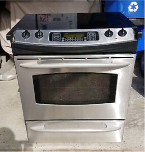 NEW PRICE   GE Profile, glass top Stainless Steel oven