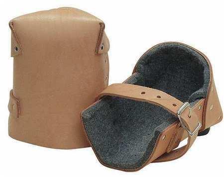 Kraft Tool Wl087 Knee Pads,Leather/Felt,Tan,Pr